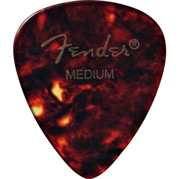 Fender 351 Classic Celluloid Guitar Picks 12-Pack Shell