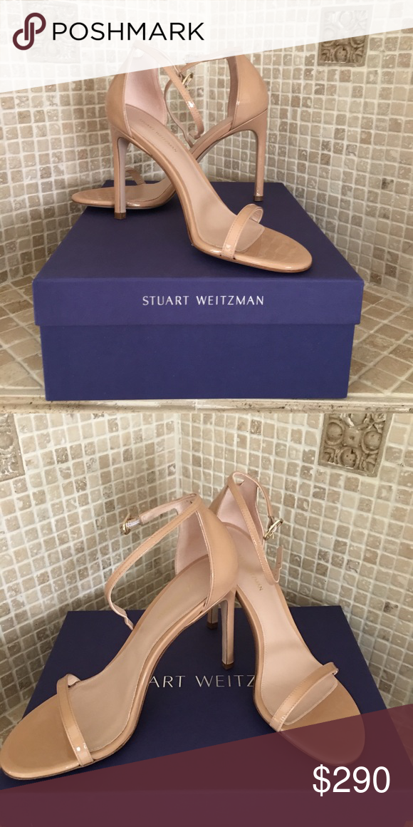 789590bc038 STUART WEITZMAN THE NUDISTSONG SANDAL Strappy sandals Adjustable ankle  strap Padded insole for added comfort Aniline patent Leather insole Leather  sole Made ...