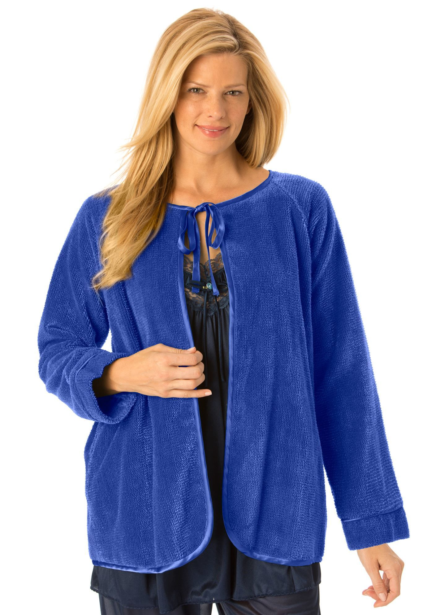 69999c894fcde Chenille bed jacket by Only Necessities - Women s Plus Size Clothing ...