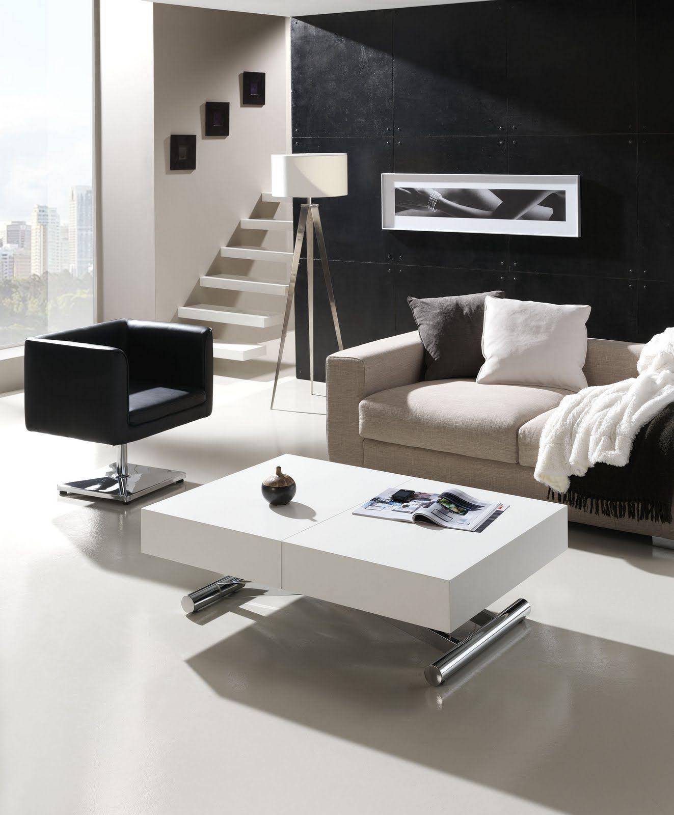 Mesa de centro Activa elevable y extensible a comedor | Mesas de ...