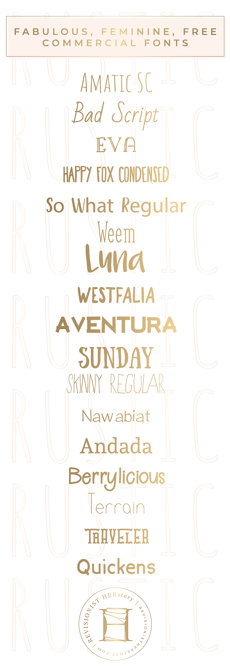 The best free rustic fonts for commercial use in 2018