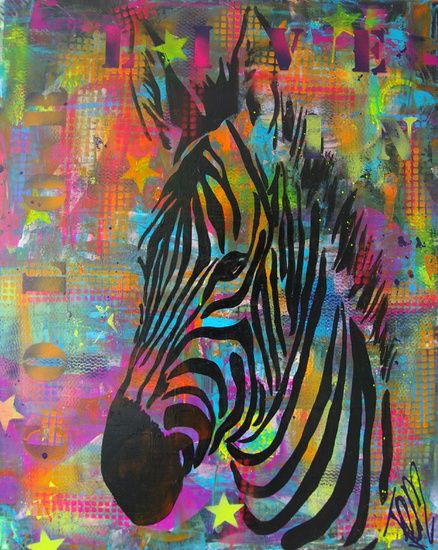 Zebra van femke van der tak fem paintings african art paintings zebra van femke van der tak fem paintings op canvas behang en meer altavistaventures Images