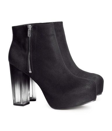 autumn shoes partially see-through gradient heel h&m