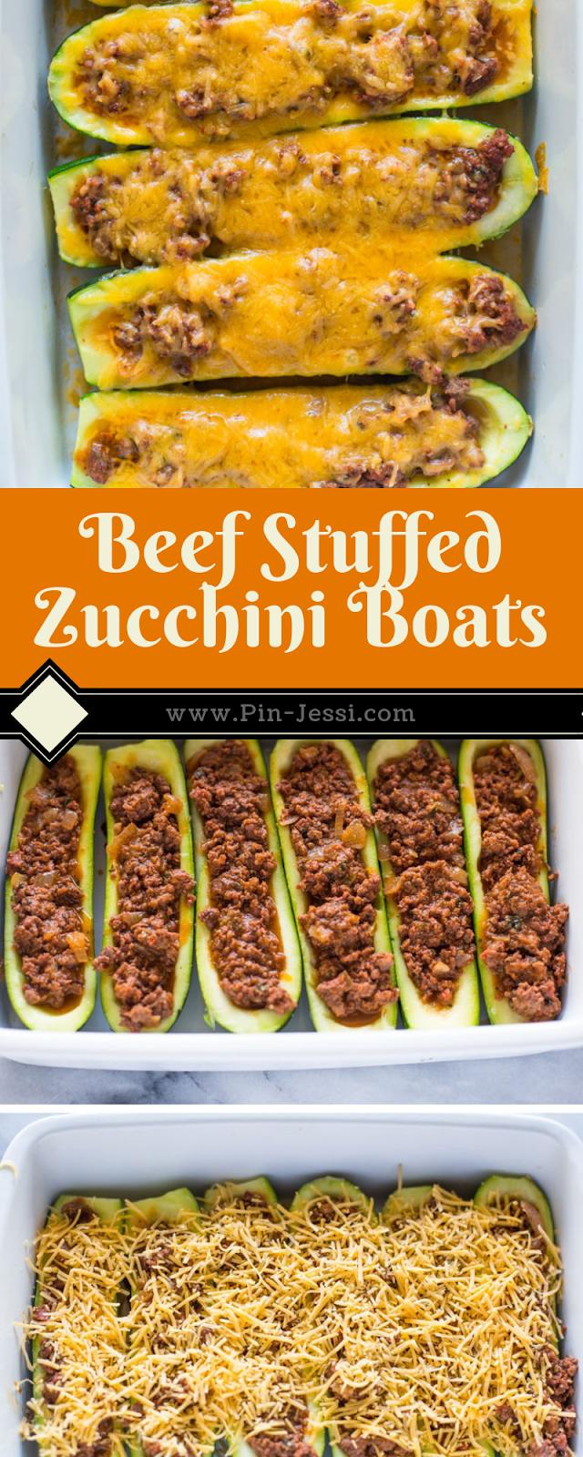 Beef Stuffed Zucchini Boats Recipe In 2020 Zucchini Boat Recipes Zuchinni Recipes Beef Recipes
