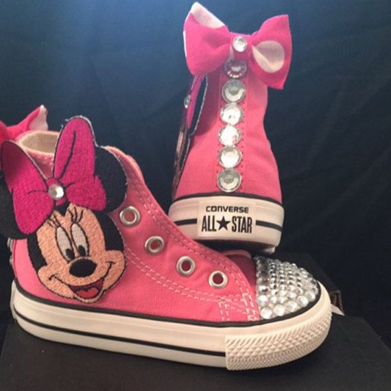ada4e76dc6333 Bedazzled girl sneakers minnie mouse converse by StellinasStyles ...