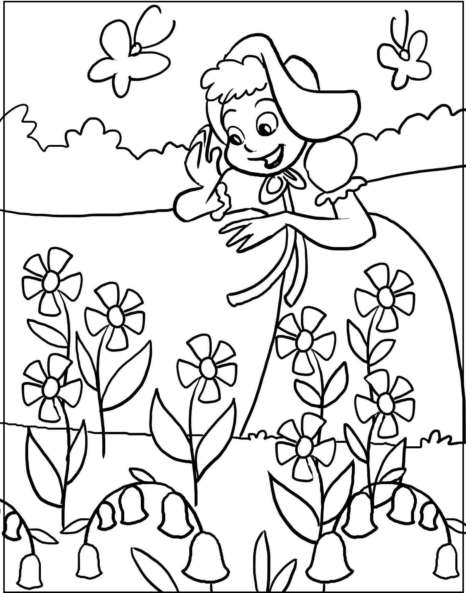 Spring Season Printable coloring picture for kids