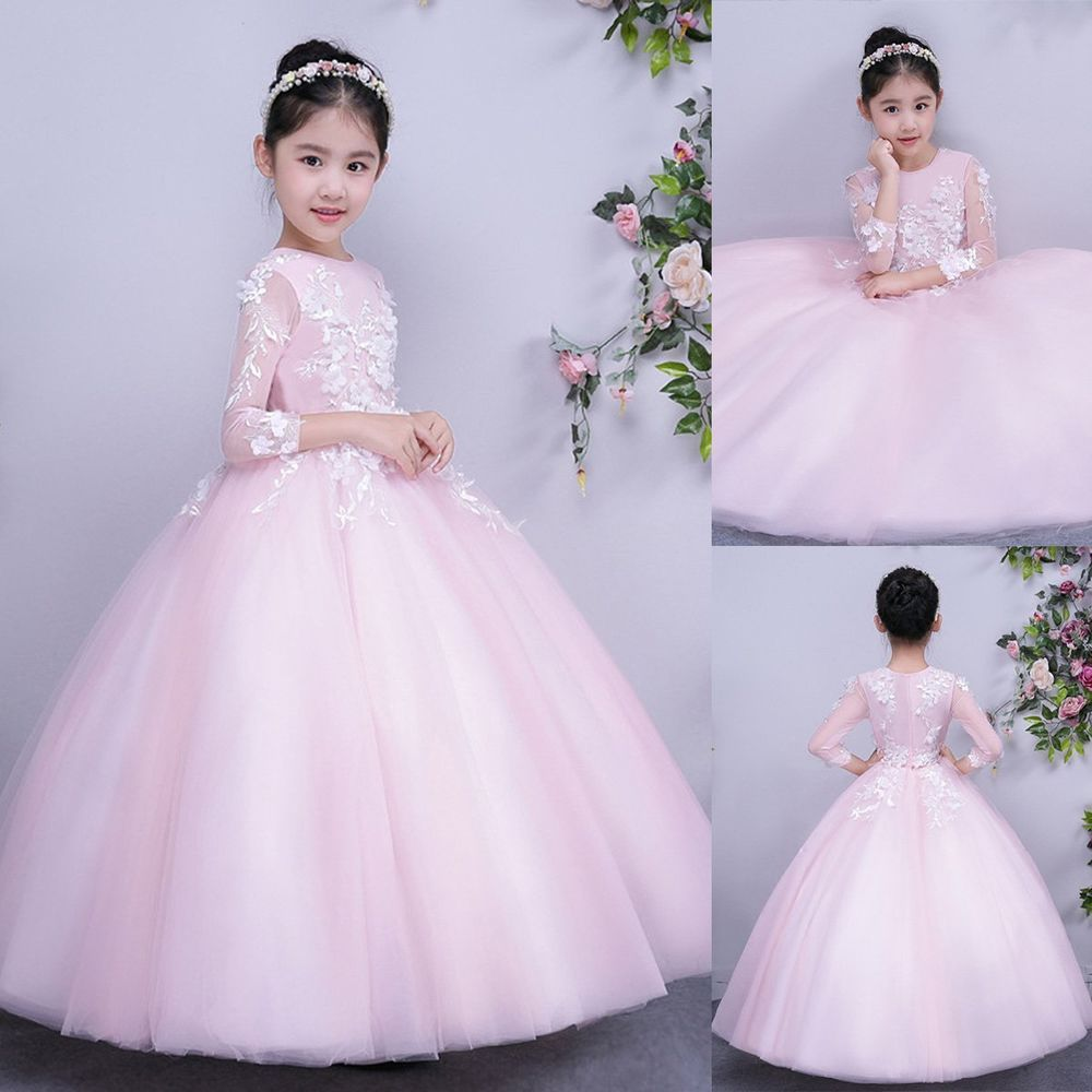 Flower Girl Dress Kids Party Wedding Bridesmaid Pageant