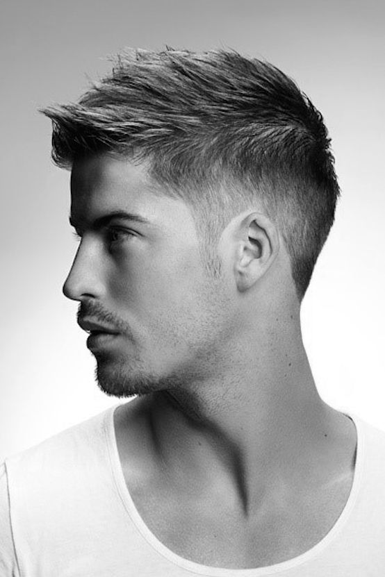 Elegant Cool Mens Short Hairstyles For Thin Hair Spiky Top