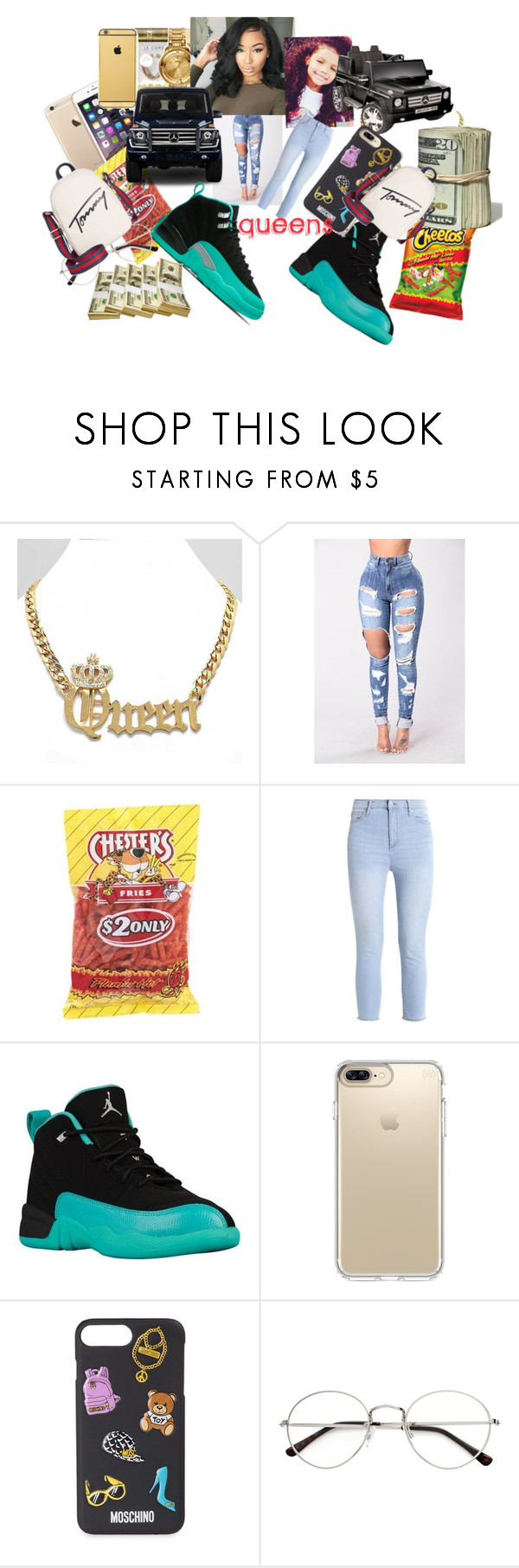 """""""QUEENS"""" by leahlacklandqueenboss ❤ liked on Polyvore featuring Mercedes-Benz, Speck, Moschino and Tommy Hilfiger"""