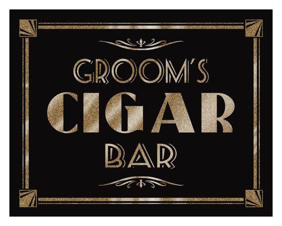 GROOM'S CIGAR BAR  Printable  Art Deco-Roaring by PSPrintables