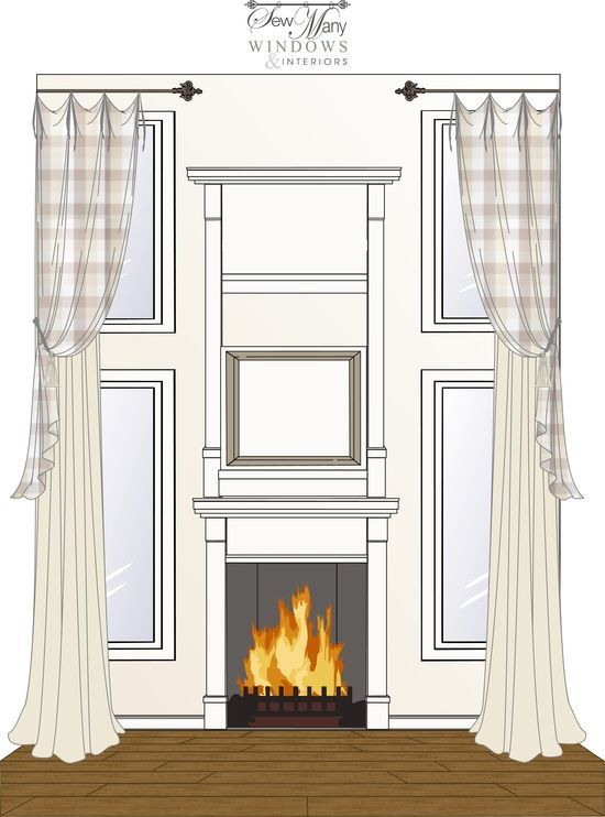 Story Window Treatment Two Story Tiebacks Fireplace And Great Rooms Pinterest Window