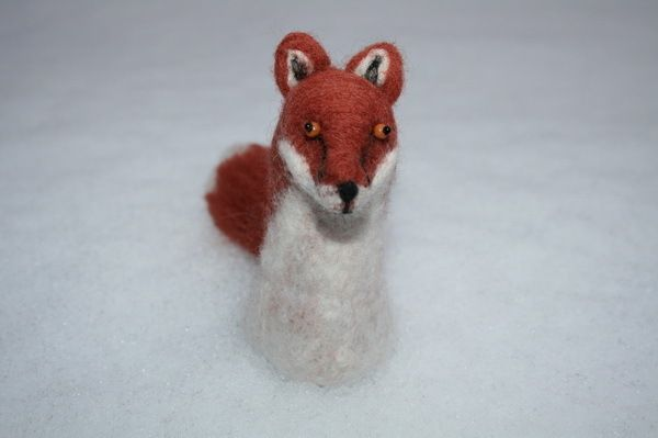 Fox  felted object