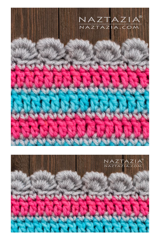 Bordure de point de lingot de crochet   – Häkeln