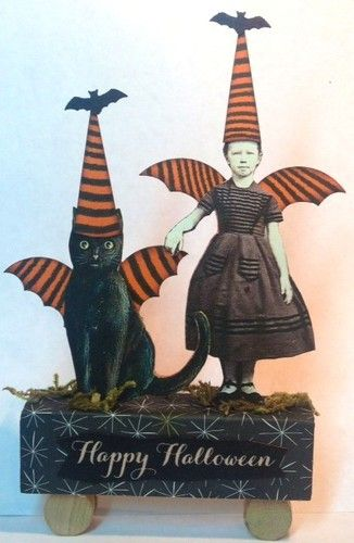 The Games Factory 2 Altered art, Mixed media and Collage - vintage halloween decorations ebay
