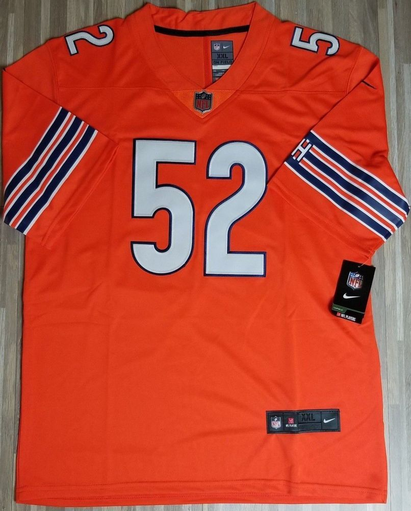 buy popular e40f7 874da New Chicago Bears Khalil Mack #52 Orange stitched jersey ...
