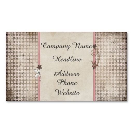 Shooting Star Shabby Chic Business Card  Shooting Stars Business