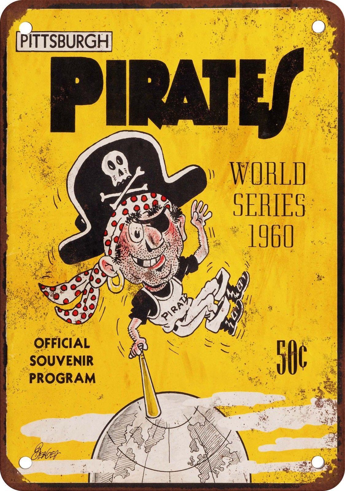 1960 World Series Pirates vs Yankees Vintage Look Reproduction Metal ...