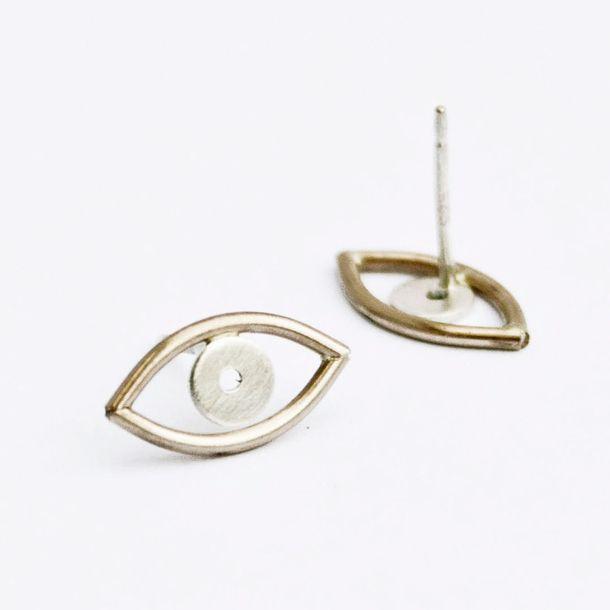 Evil Eye Earrings Gold Fill