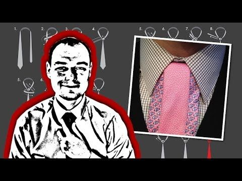 How to Tie a Stacked Onassis Necktie Knot  Interesting, but only for contrast ties.