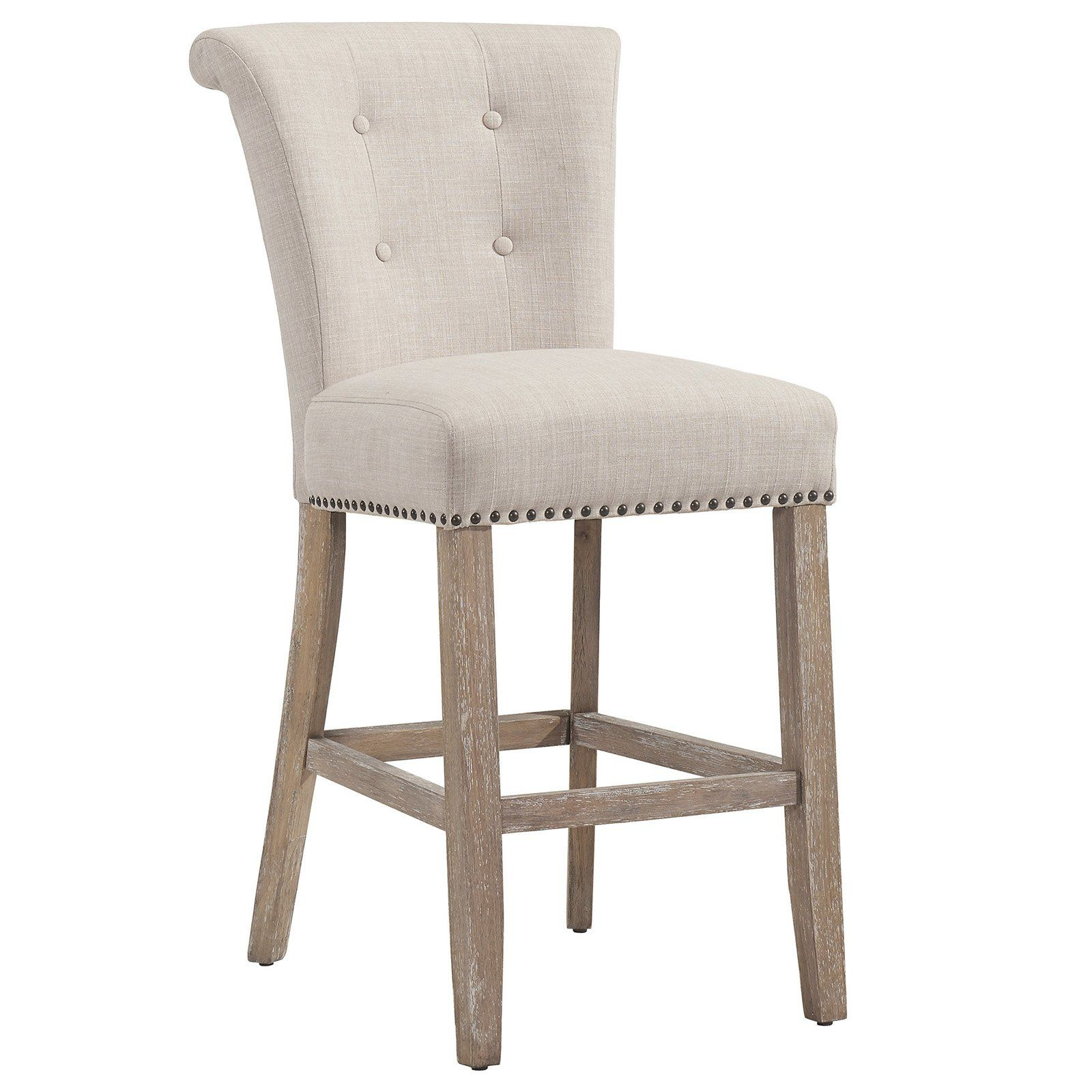 Nspire Selma 26 In Upholstered Counter Stool Set Of 2 Counter Stools Bar Stools Bar Stools With Backs