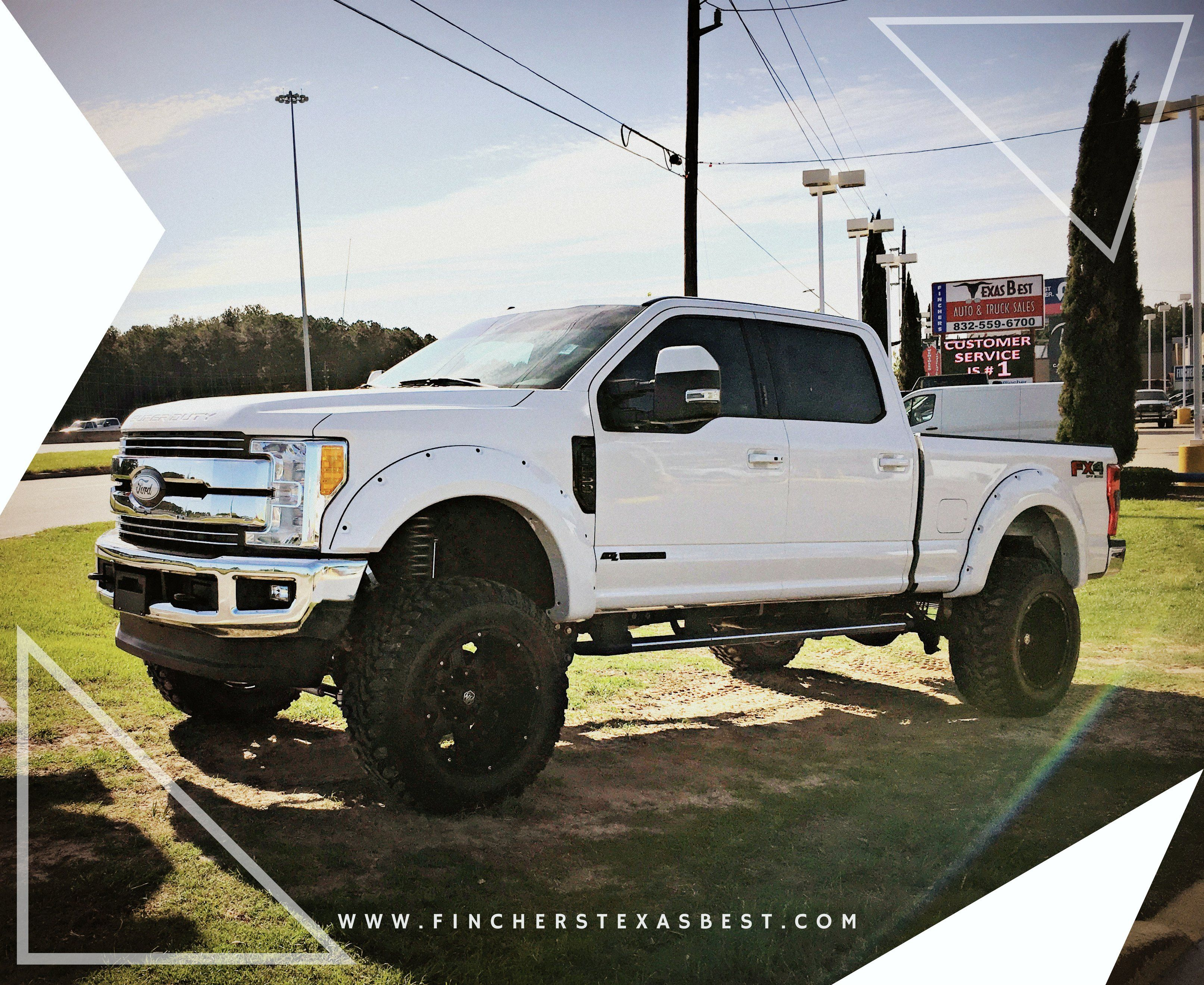 Custom Trucks For Sale Check Out This Custom Lifted 2017 Ford F250 Lariat Truck For Sale At Fincher S Texas Best Diesel Trucks Lifted Trucks Ford Trucks
