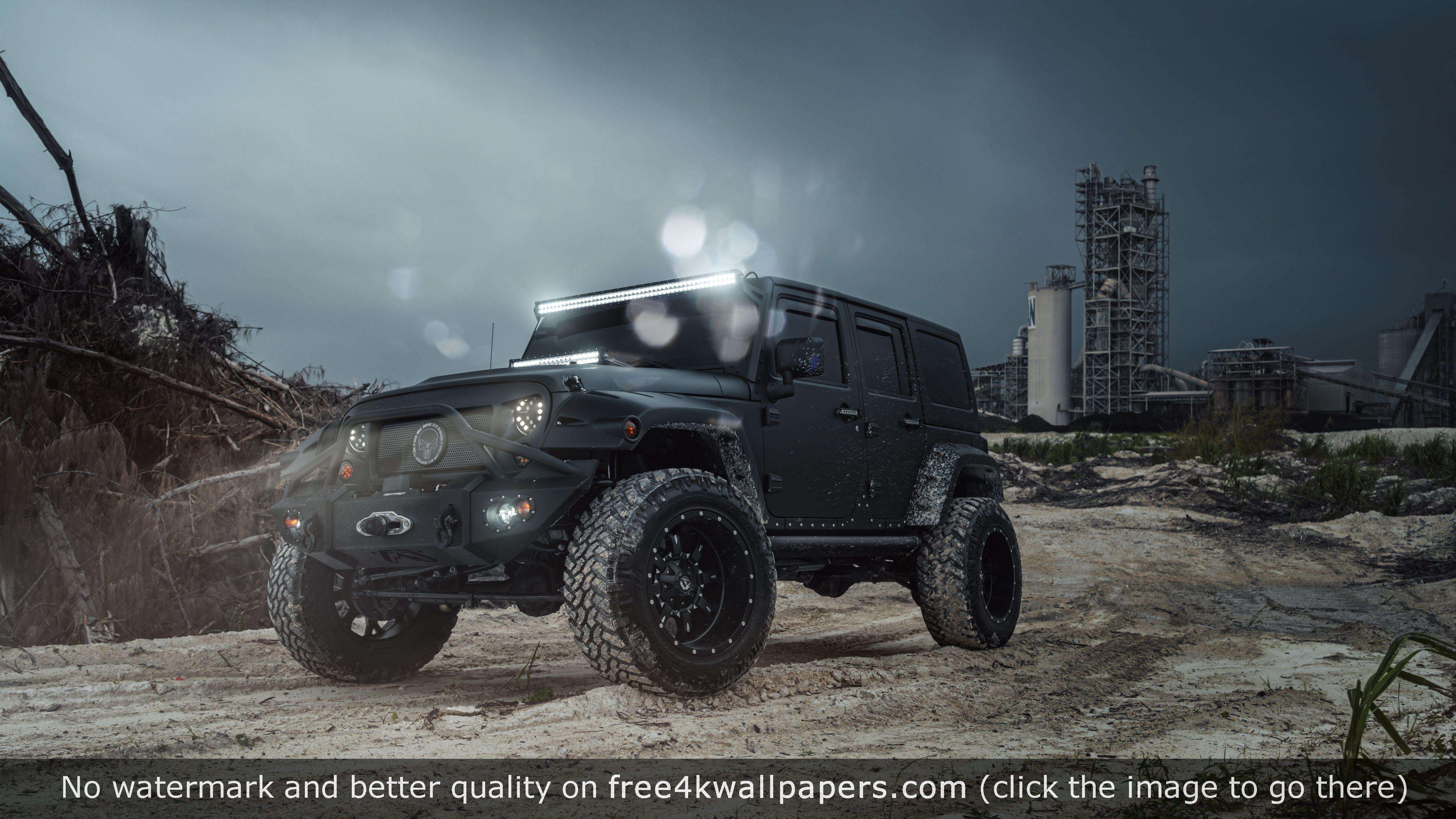 Mc Customs Jeep Wrangler 2016 4k Wallpaper Jeep Wallpaper Custom Jeep Wrangler Custom Jeep