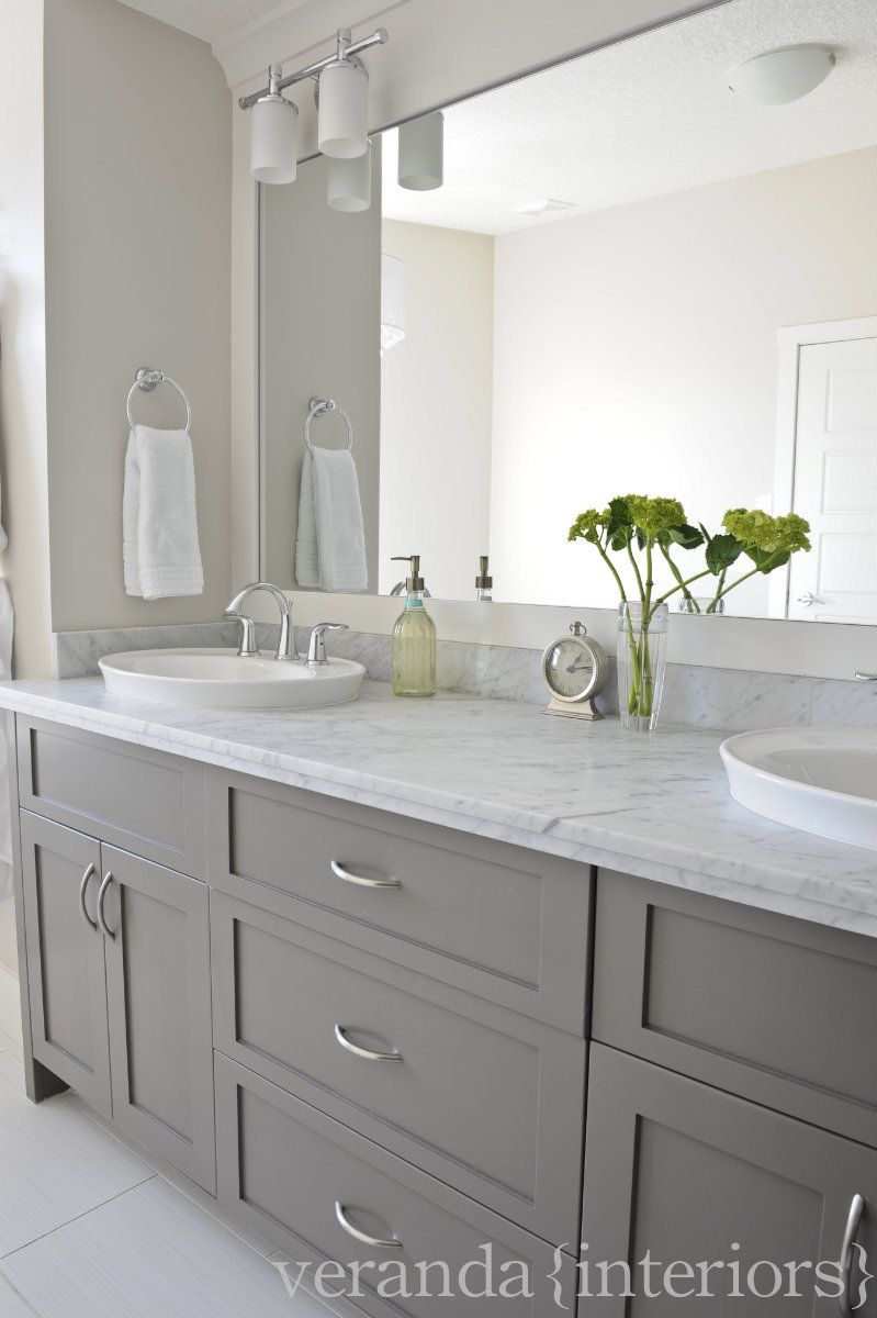 Love this colour scheme grey white marble mirror but would want