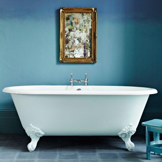 blau minimalistische badezimmer wohnideen badezimmer living ideas, Wohnideen design