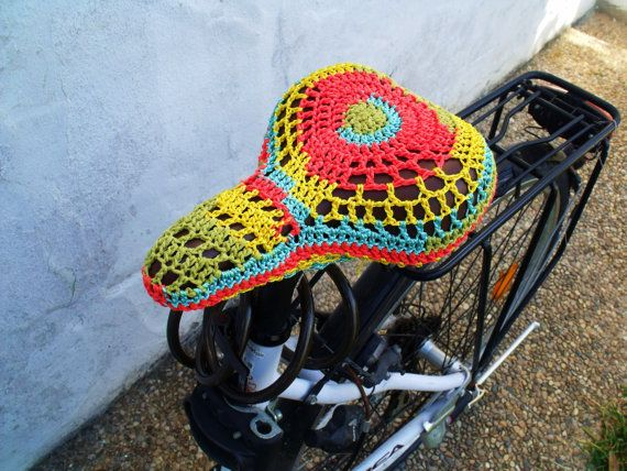 crochet bike seat cover pattern