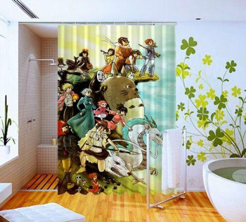 Studio Ghibli Characters Disney Pattern Art Custom Design Shower