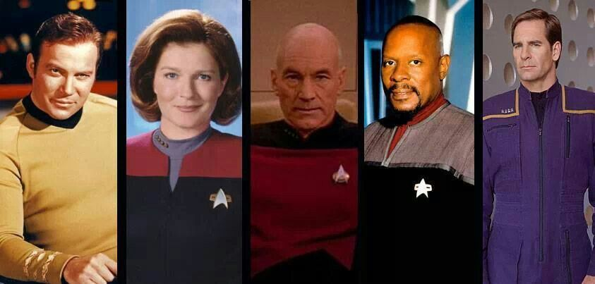 Captain's all...my personal favorites are Janeway and Picard.
