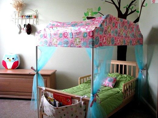 DIY PVC Framed Canopy Bed   Love This Idea And With Changes/moderations, It  Can Also Make A Little Boyu0027s Bed Fort.