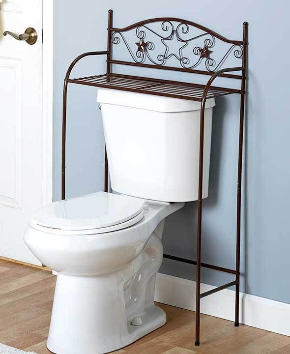 Picture Gallery For Website Bronze Over the Toilet Bathroom Organizer Shelf Stand Storage Rack Scroll Stars Unbranded
