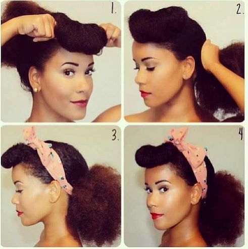 Retro Natural Hair Look Pictorial Natural Hair Styles Hair Styles Curly Hair Styles