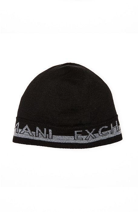 5f667d53b Reversible Logo Knit Beanie - Accessories - Mens - Armani Exchange ...