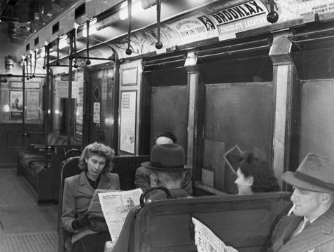 London: On the District Line in 1944.