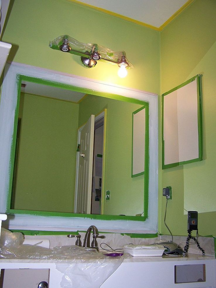 Diy Mirror Makeover Decorative Paint Frame Without Mirror Removal