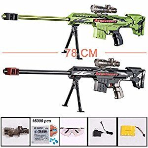 Amazon.com : CM continuous-bullet sniper rifle nerf gun soft bullet toy gun