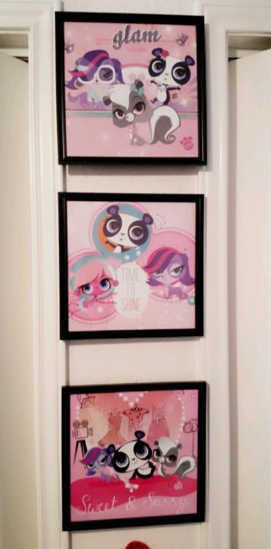 Captivating Littlest Pet Shop Wall Art Girls Kids Bedroom Redecorating Idea