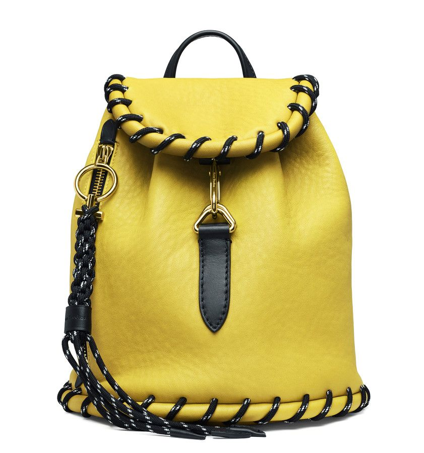 The Acne Studios Rope jungle yellow backpack #AcneStudiosBags