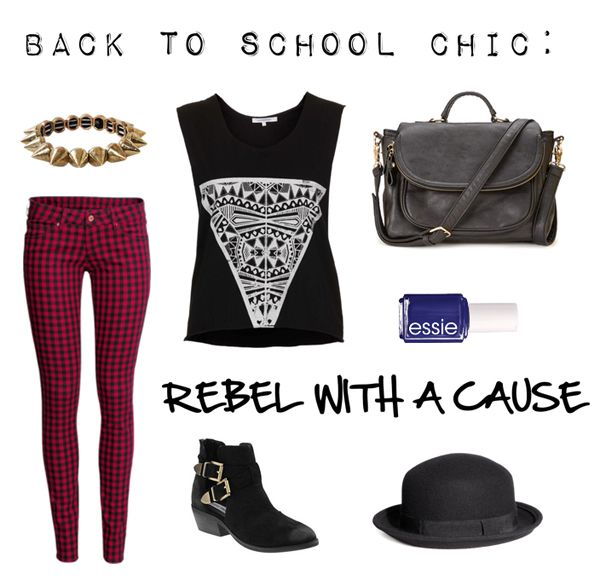 edgy back to school outfit #backtoschool | autumn ...