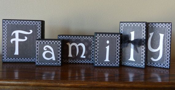 family block letters home decor unique custom gift