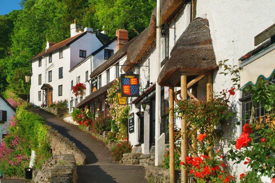 Lynmouth in Devon, England