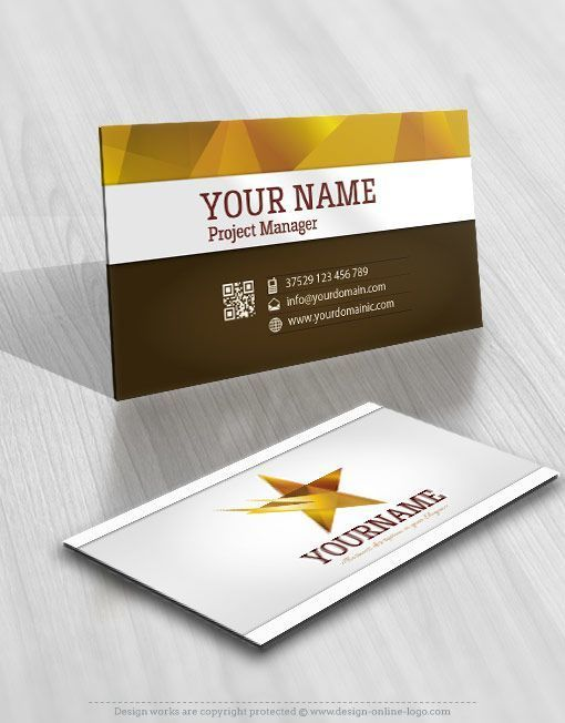 3d Star Logo Free Business Card Free Business Card Design Free Business Cards Logo Design Free