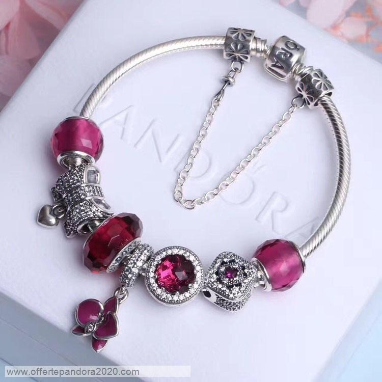 braccialetto pandora con perline