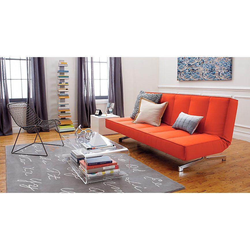 Best Flex Orange Sleeper Sofa In All Furniture Cb2 Sala 400 x 300