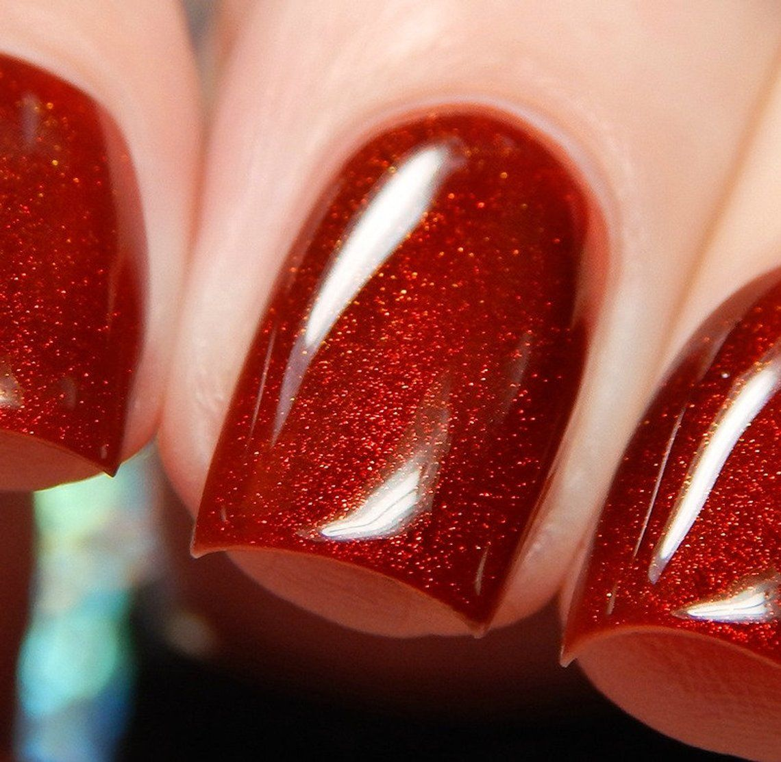 Dark Red Color Shifting Polish, Red To