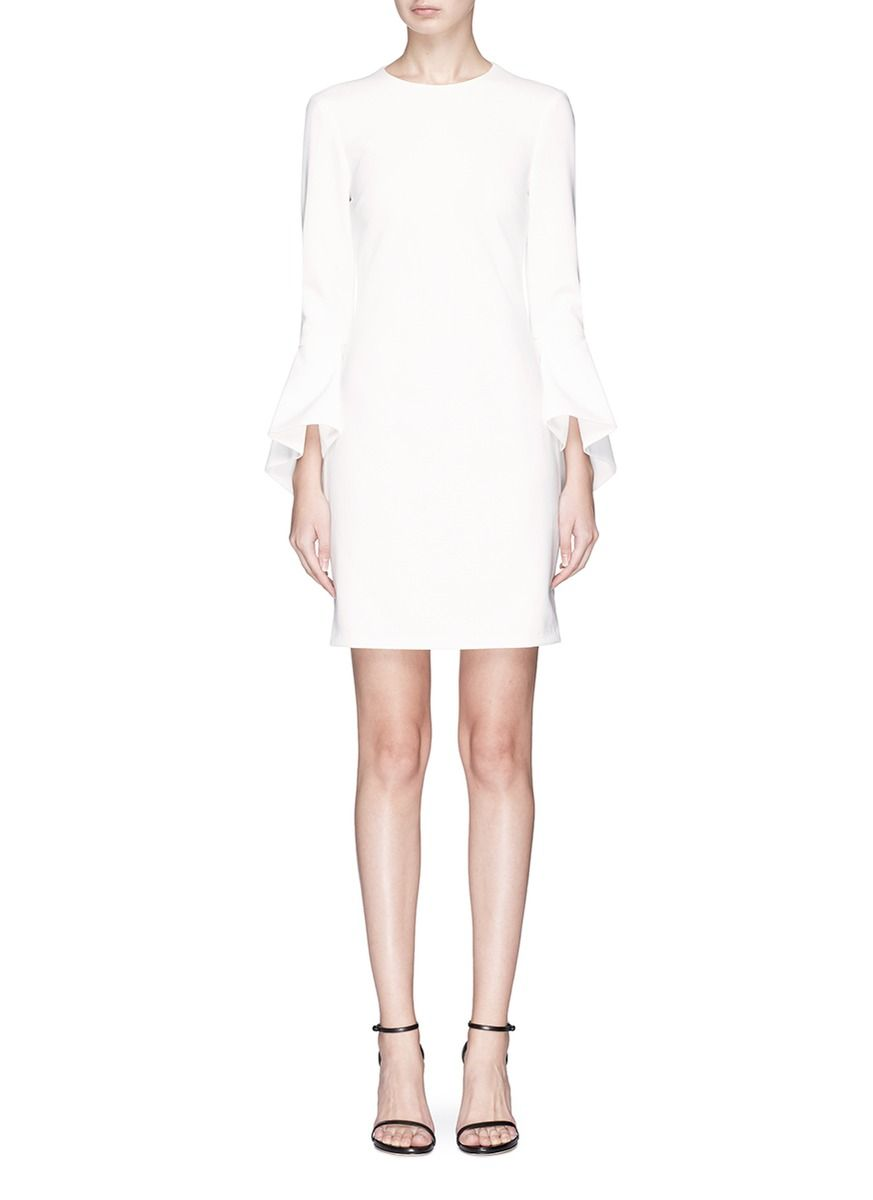 Dora Crepe De Chine Mini Dress - White Alice & Olivia