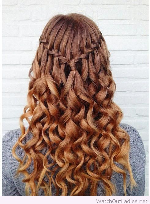 Amazing Waterfall Braid More Braided Hairstyles Hot Hair Styles Down Hairstyles For Long Hair