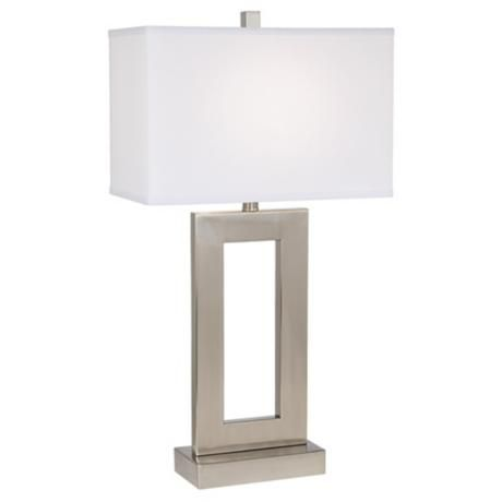 Open Window 30 High Rectangular Table Lamp 60238 Lamps Plus Rectangular Table Lamp Lamp Table Lamp
